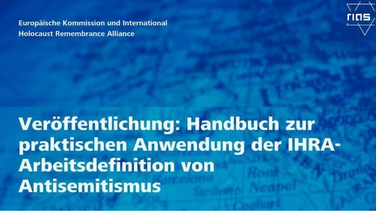 RIAS veröffentlicht Handbuch zur Bekämpfung des Antisemitismus