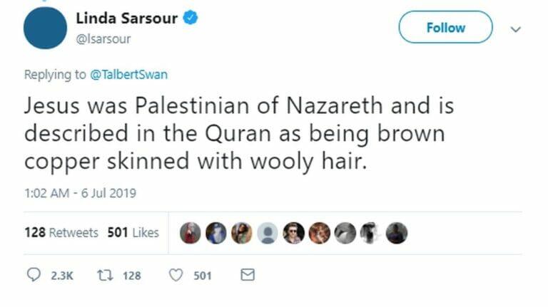 Antisemitinnen wie Linda Sarsour behaupten, Jesus sei Palästinenser gewesen