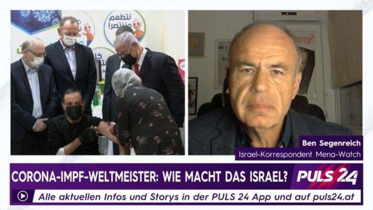Jabarin Muhammad, der millionste Israeli, der gegen Corona geimpft wurde