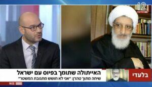Der der ehemalige iranische Ayatollah Abdol-Hamid Masoumi-Tehrani im Interview mit Channel12