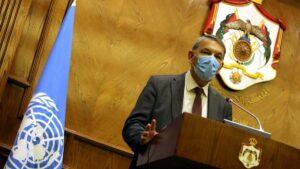 UNRWA-Generalkommissar Philippe Lazzarini auf einer Pressekonferenz in Jordanien