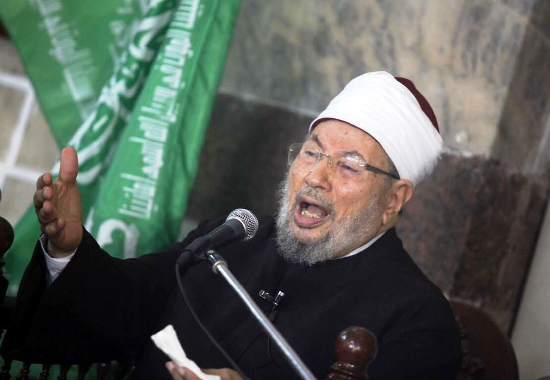 Der krönende Abschluss von Farid Hafez' politisch-islamischer Ideengeschichte: Der Chefideologe der Muslimbruderschaft, Yusuf al-Qaradawi. (© imago images/ZUMA Wire)