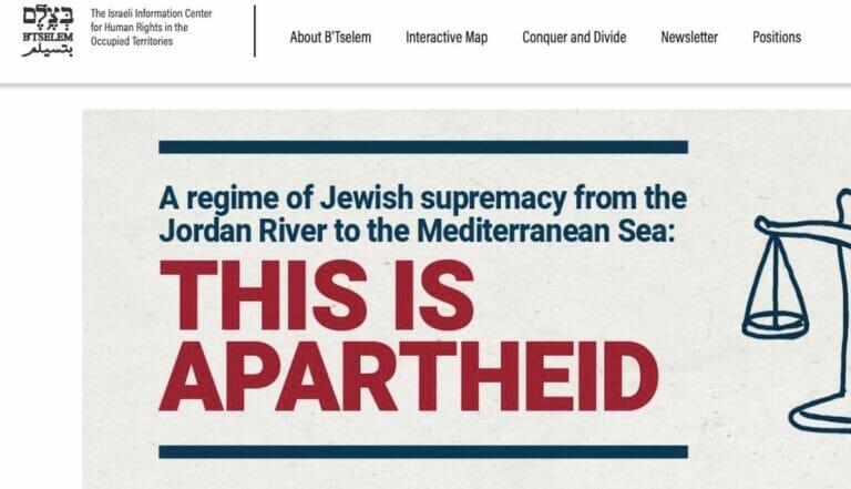 """Neben """"Breaking the Silence"""" hat nun auch """"B'Tselem"""" Israel der Apartheid bezichtigt"""