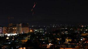 Luftabwehr über der syrischen Hauptstadt Damaskus