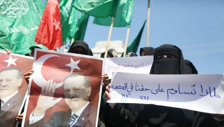 Hamas-Anhänger demonstrieren in Gaza für Erdogan