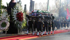 "Begräbnis des im November getöteten ""Vaters der iranischen Atombombe"" Mohsen Fakhrizadeh"