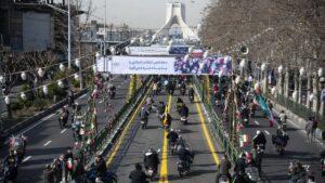 Motorrad-Demonstration zu Ehren des 42. Jahrestags der iranischen Revolution