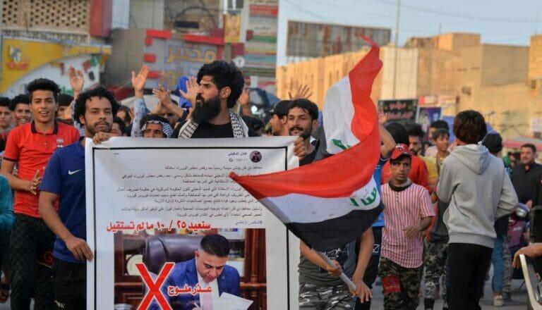 Seit 2019 finden in der südirakischen Stadt Nasiriyah Proteste statt