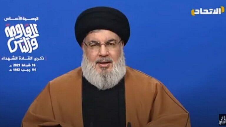 Hisbollah-Chef Nasrallah droht Israel mit einem Krieg wie dem Unabhängigkeitskrieg 1948