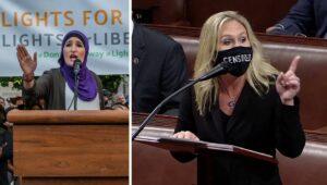 Linke Antisemitin und rechte Antisemitin: Linda Sarsour und Marjorie Taylor Greene