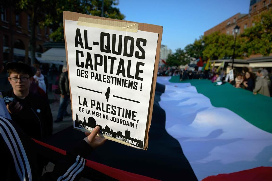 """Ob die Forderung nach einem """"Palästina vom Meer bis zum Jordan"""" gemäß der """"Jerusalemer Erklärung"""" wohl als Antisemitismus gelten würde? (© imago images/ZUMA Press)"""