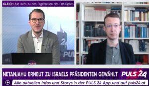 Florian Markl im Interview mit Puls24 über die Situation nach der vierten Wahl in zwei Jahren in Israel. (Quelle: Puls24)