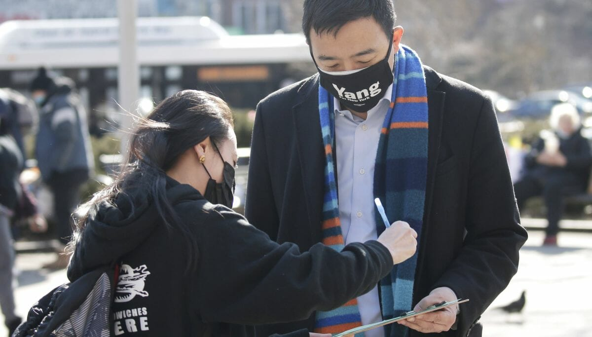 Andrew Yang auf Wahlkampftour in New York