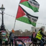 Protestaktion der antisemtischen BDS-Bewegung in London