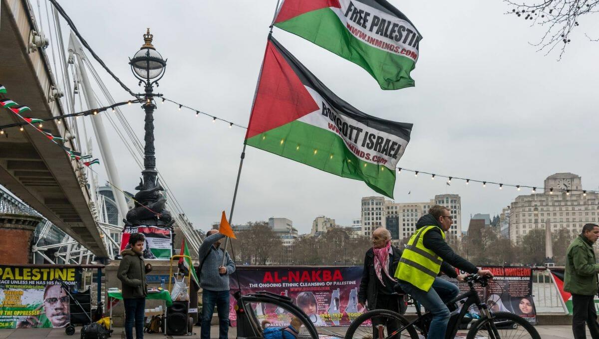 Protestaktion der antisemtischen BDS-Bewegung in London