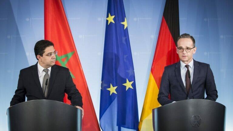 Der marokkanische Außenminister Nasser Bourita und sein deutscher Amtskollege Heiko Maas
