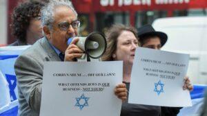 Demonstration gegen Corbyn und den Antisemitismus in der Labour Party