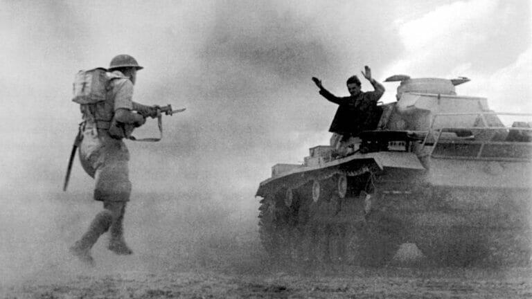 In der Schlacht von El Alamein wurde deutsche Vormarsch in Nordafrika 1942 gestoppt