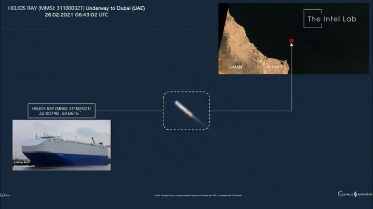 Am vergangenen Donnerstag war das israelische Schiff Helios Ray im Golf von Oman angegriffen worden