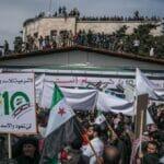 Demonstration anlässlich des 10. Jahrestages der Proteste gegen Syriens Präsident Assad