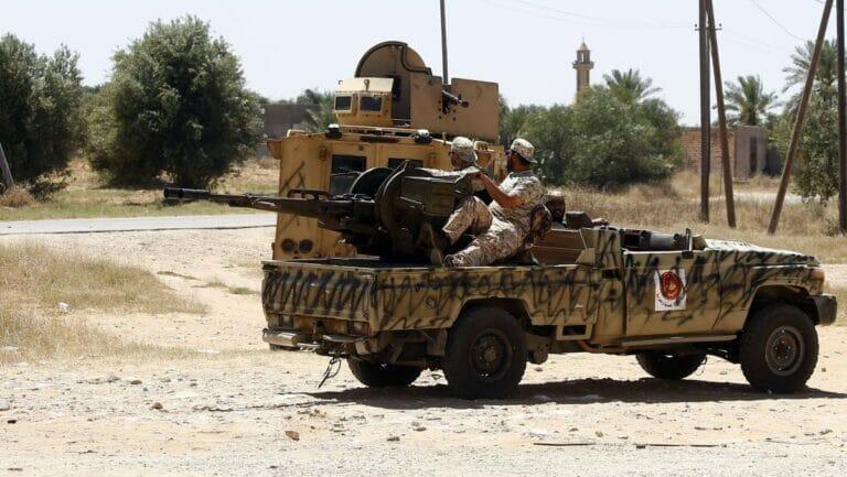 """Kämpfer der """"Regierung der Nationalen Übereinkunft"""" in Liyben"""