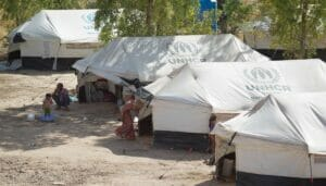 Flüchtlingslager in der Provinz Garmiyan in Irakisch-Kurdistan