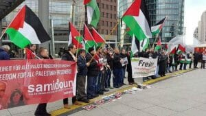"Demontsration der BDS-Organisation ""Samidoun"" in Berlin"