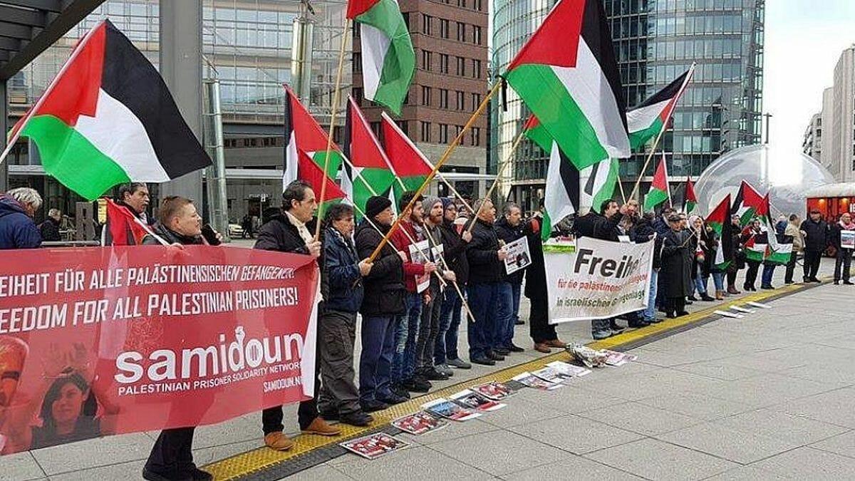 "Demontsration der BDS-Organisation ""Samidoun"" in Berlin"