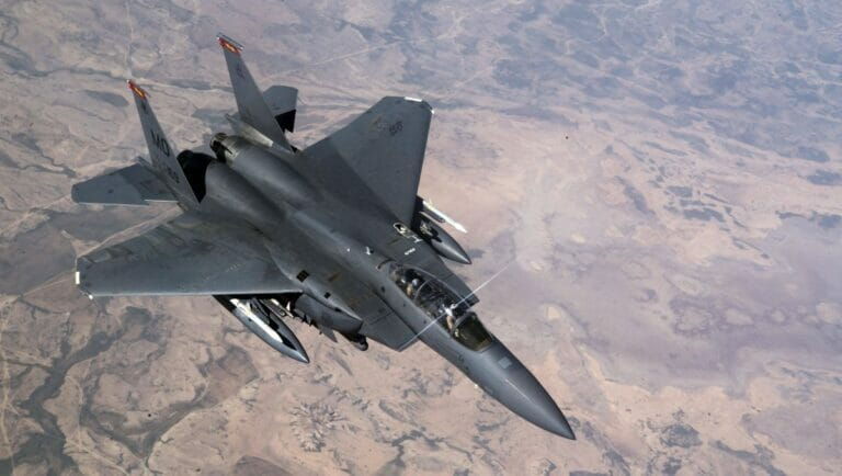 F-15-Kampfflugzeug der US Air Force