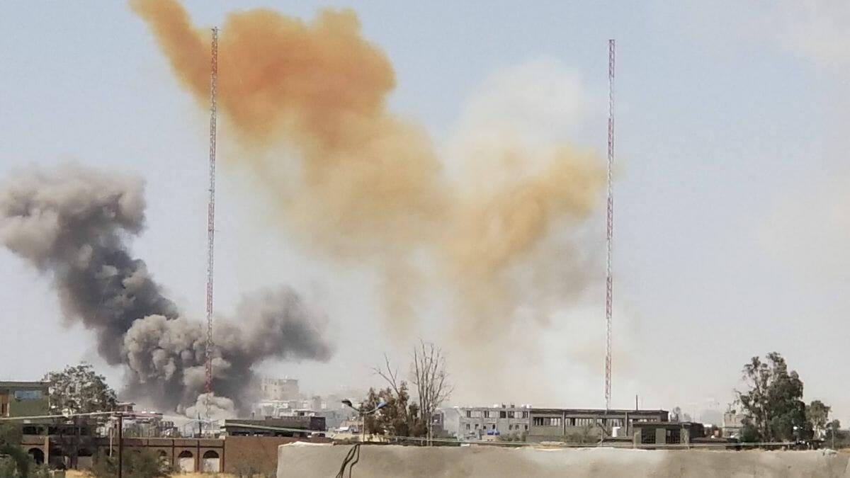 Saudische Angriffe auf die jemenitische Hauptstadt Sanaa am 7. März