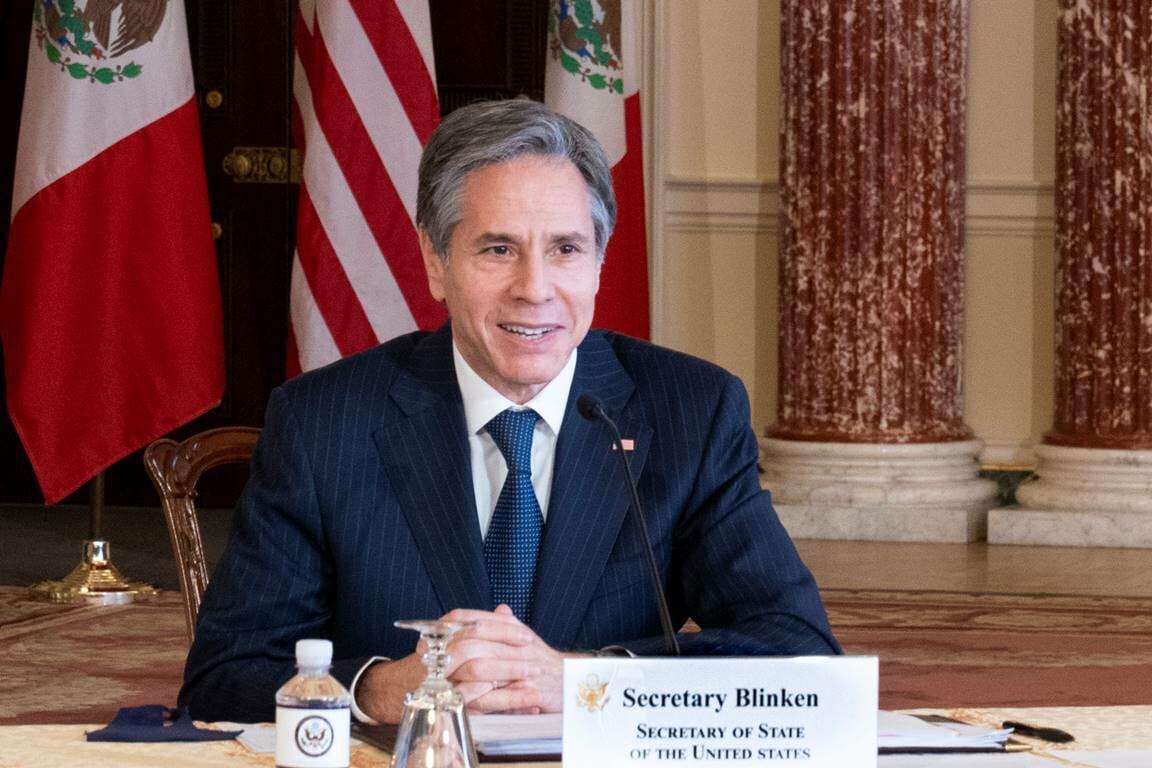 US-Außenminister Blinken will Freiheit, Wohlstand und Demokratie für die Palästinenser. Aber warum fordert er das von Isreal ein? (© imago images/ZUMA Wire)