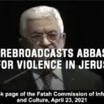 Abbas veröffentlichte seinen Aufruf zu Gewalt in Jerusalem bereits 2014