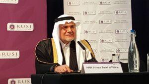 Der ehemalige saudische Geheimdienstchef und Botschafter in den USA, Prinz Turki Al-Faisal