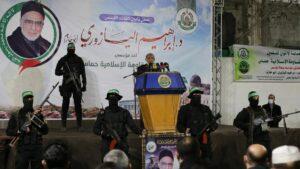 Der Hamas-Funktionär Mahmoud al-Zahar bei einer Ansprache in Gaza