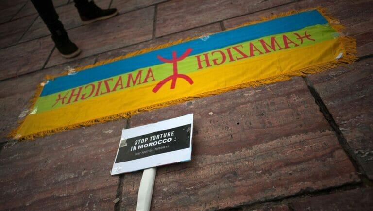 Demonstration der Amazigh gegen Repression in Marokko