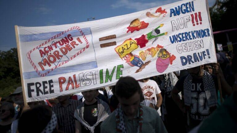 Demonstration der antisemtischen BDS-Bewegung