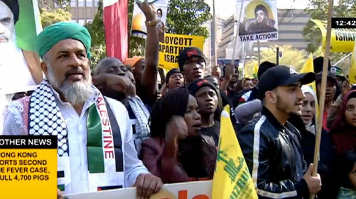 Demonstration der antisemtischen BDS-Bewegung in Südafrika