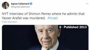 Tweet der Generalsekretärin von Amnesty International, Agnès Callamard