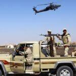 Ägyptische Militärpatrouille im Sinai