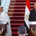 Pressekonferenz der sudanesischen Außenministerin Mariam al-Sadiq al-Mahdi und ihres ägyptischen Amtskollegen Sameh Shoukry