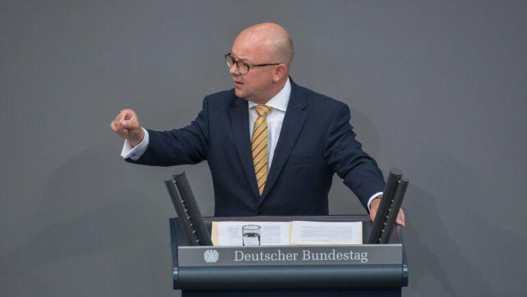 Frank Müller-Rosentritt bei einer Rede im Deutschen Bundestag