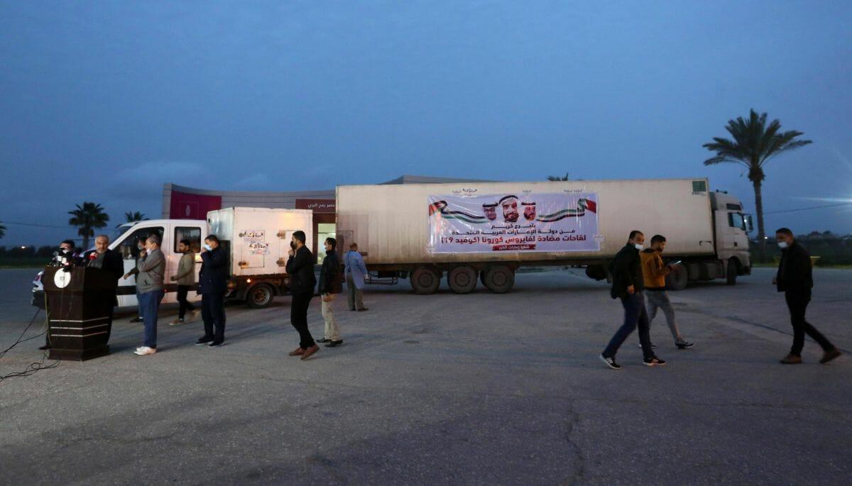 Medienwirksame Inszenierung: Ankunft der ersten Impfdosen in Gaza