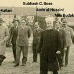 Der Mufti von Jerusalem Amin al-Husseini zu Besuch in einem Konzentrationslager der Nazis