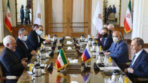 Der iranische Außenminister Zarif und sein russicher Amtskollege Lawrow