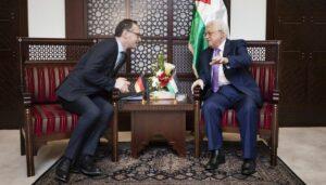 Deutschlands Außenminister Maas und der der Präsident der Palästinensischen Autonomiebehörde Abbas