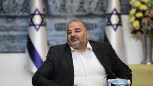 Mansour Abbas, der Vorsitzende der arabische Partei Ra'am