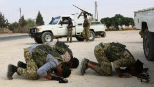"""Milizionäre der mit der Türkei verbündeten """"Syrischen Nationalen Armee"""""""