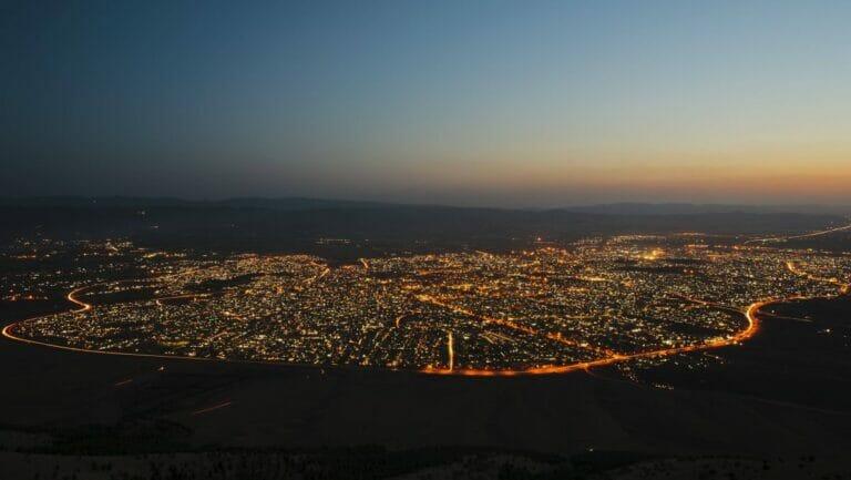 Die Stadt Sulaimaniyya in Irakisch-Kurdistan