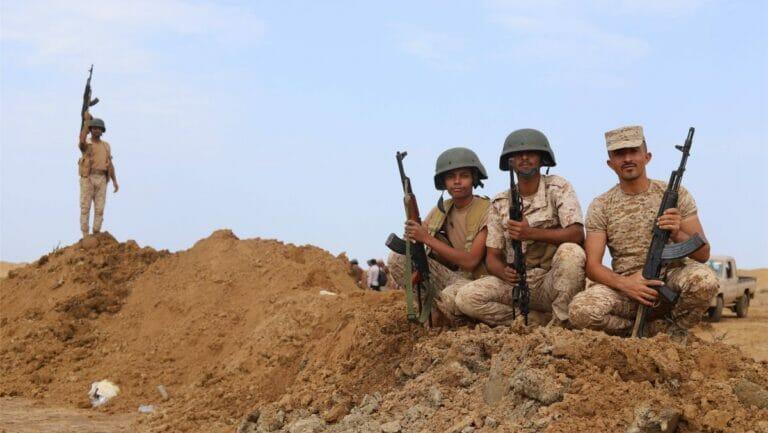 Regierungstreue Truppen in Marib im Jemen