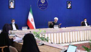 Irans Präsident Rohani bei einer Kabinettssitzung